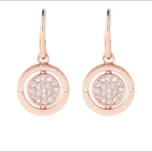 MK flip glitz drop embellished earrings